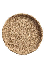 Plateau rond en paille - Naturel - Home All | H&M FR 3