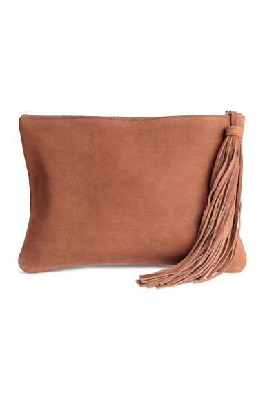 Suede clutch bag - Brown - Ladies | H&M GB