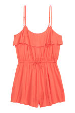 Playsuit with a flounce - Coral - Ladies | H&M CN 1
