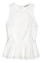 Peplum top - White - Ladies | H&M CN 2