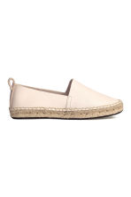 Leather espadrilles - Natural white - Ladies | H&M CN 2