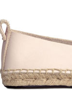 Leather espadrilles - Natural white - Ladies | H&M CN 5