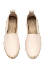 Leather espadrilles - Natural white - Ladies | H&M CN 3