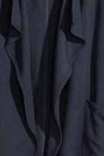 Draped lyocell-blend jacket - Dark blue - Ladies | H&M CN 3