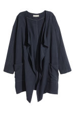Draped lyocell-blend jacket - Dark blue - Ladies | H&M CN 2