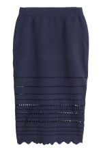 Gonna a tubino - Blu scuro - DONNA | H&M IT 2
