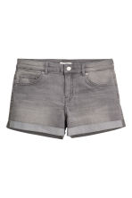 Denim shorts - Grey - Ladies | H&M CN 2