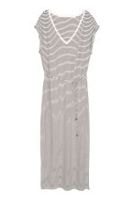 Jersey maxi dress - White/Striped - Ladies | H&M CN 2