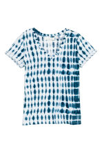 Top in jersey fantasia - Blu scuro/bianco - DONNA | H&M IT 2