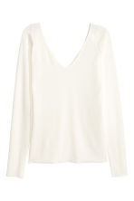 Top con scollo a V - Bianco - DONNA | H&M IT 2
