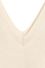 Ribbed top - Light beige - Ladies | H&M CN 3