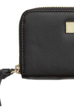 Leather purse - Black - Ladies | H&M CN 2