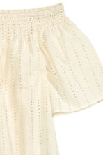 Off-the-shoulder blouse - Natural white - Ladies | H&M CN 3