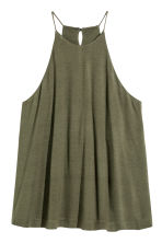 Sleeveless jersey top - Khaki green - Ladies | H&M CN 2
