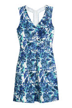 Sleeveless dress - White/Blue pattern - Ladies | H&M CN 2