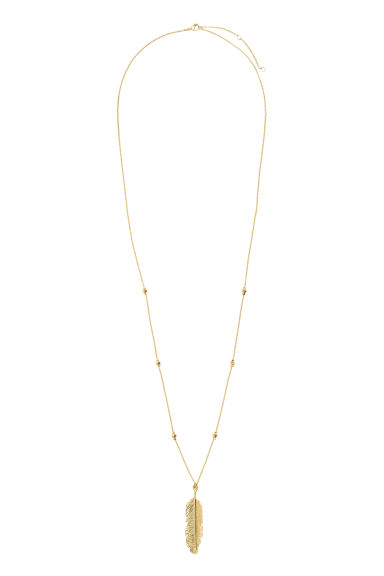 Long necklace with pendant - Gold - Ladies | H&M