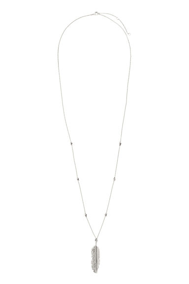 Long necklace with pendant - Silver - Ladies | H&M CN 1
