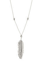 Long necklace with pendant - Silver - Ladies | H&M CN 3