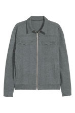 Marled blouson jacket - Dark grey marl - Men | H&M CN 2