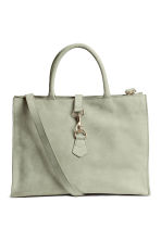 Leather handbag - Light grey - Ladies | H&M CN 2