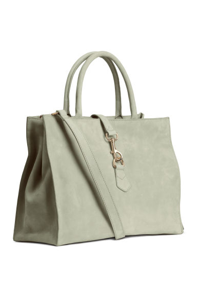 Leather handbag - Light grey - Ladies | H&M CN 1