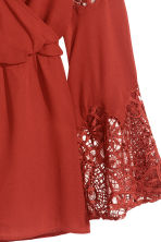 Playsuit with lace details - Rust red - Ladies | H&M GB 3