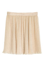 Pleated chiffon skirt - Light beige - Ladies | H&M IE 2