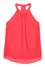 Sleeveless chiffon top - Coral red - Ladies | H&M CN 2
