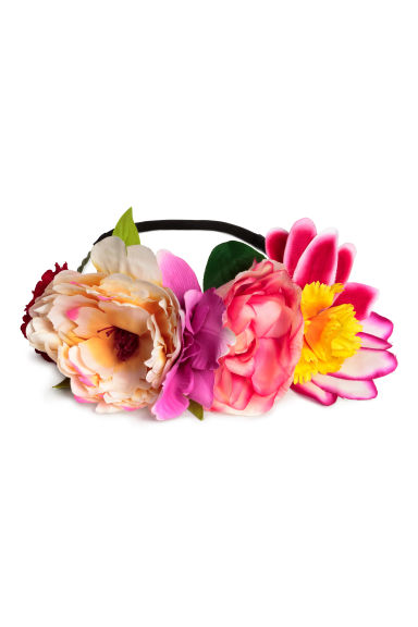 Hairband with flowers - Pink - Ladies | H&M CN 1