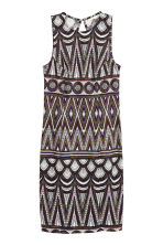 Sleeveless dress - White/Patterned - Ladies | H&M CN 2