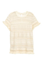 Top in cotton lace - Natural white - Ladies | H&M CN 2