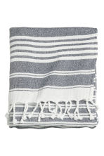 Beach towel - Dark grey/Striped - Ladies | H&M CN 1