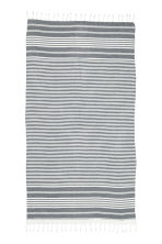 Beach towel - Dark grey/Striped - Ladies | H&M CN 2