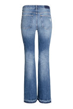 Flare Regular Trashed Jeans - Denim blue - Ladies | H&M CN 3