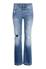 Flare Regular Trashed Jeans - Denim blue - Ladies | H&M CN 2