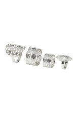 4-pack rings - Silver - Ladies | H&M CN 1
