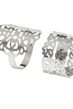 4-pack rings - Silver - Ladies | H&M CN 2