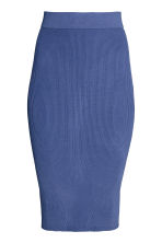 Ribbed skirt - Dark blue - Ladies | H&M CN 2