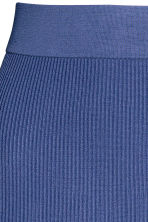 Ribbed skirt - Dark blue - Ladies | H&M CN 3