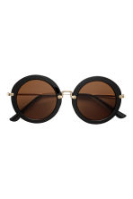 Round sunglasses - Black/Gold - Ladies | H&M CN 2