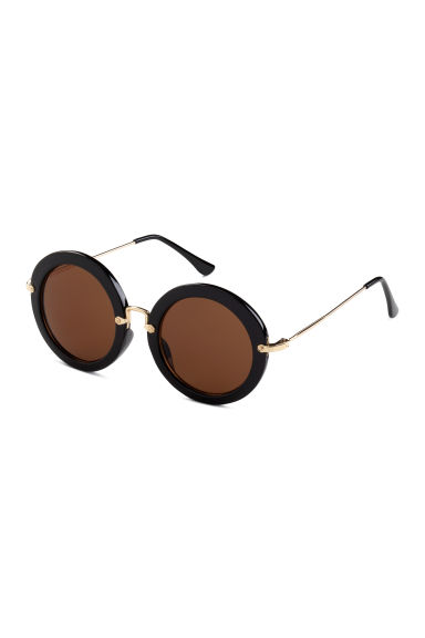 Round sunglasses - Black/Gold - Ladies | H&M CN 1