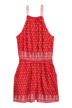 Patterned playsuit - Red/Patterned - Ladies | H&M GB 2