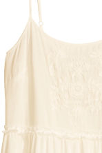 Embroidered maxi dress - Natural white - Ladies | H&M CN 2