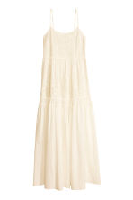 Embroidered maxi dress - Natural white - Ladies | H&M CN 1