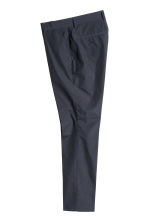 Pima cotton suit trousers - Dark blue - Men | H&M CN 2