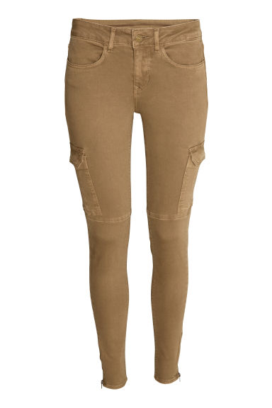 Cargo pants - Dark beige - Ladies | H&M CN 1