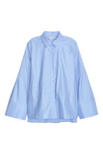 Cotton shirt - Light blue - Ladies | H&M GB 2