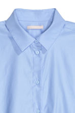 Cotton shirt - Light blue - Ladies | H&M GB 3