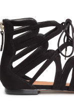 Lace-up sandals - Black - Ladies | H&M CN 4