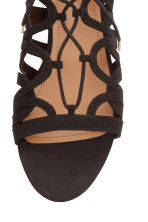 Lace-up sandals - Black - Ladies | H&M CN 3